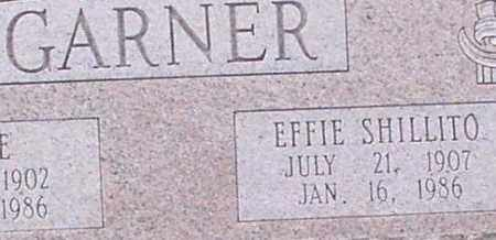 SHILLITO GARNER, EFFIE (CLOSEUP) - Saline County, Arkansas | EFFIE (CLOSEUP) SHILLITO GARNER - Arkansas Gravestone Photos