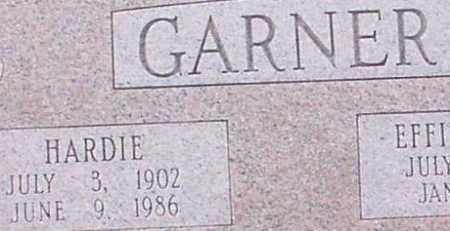 GARNER, HARDIE (CLOSEUP) - Saline County, Arkansas | HARDIE (CLOSEUP) GARNER - Arkansas Gravestone Photos