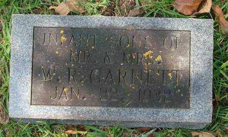 GARNETT, INFANT SONS - Saline County, Arkansas | INFANT SONS GARNETT - Arkansas Gravestone Photos
