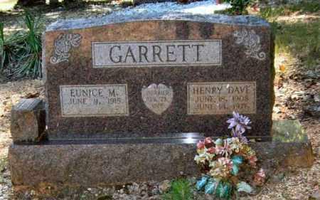 GARRETT, HENRY DAVE - Saline County, Arkansas | HENRY DAVE GARRETT - Arkansas Gravestone Photos