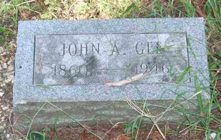 GEE, JOHN A. - Saline County, Arkansas | JOHN A. GEE - Arkansas Gravestone Photos