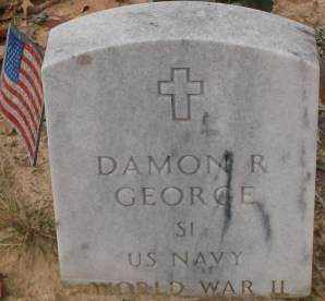 GEORGE (VETERAN WWII), DAMON R - Saline County, Arkansas | DAMON R GEORGE (VETERAN WWII) - Arkansas Gravestone Photos