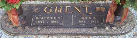 GHENT, JOHN B. - Saline County, Arkansas | JOHN B. GHENT - Arkansas Gravestone Photos