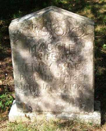 GILES, MAGGIE - Saline County, Arkansas | MAGGIE GILES - Arkansas Gravestone Photos