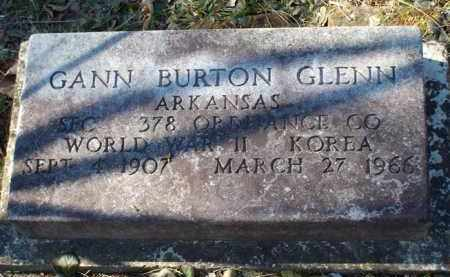 GLENN (VETERAN 2 WARS), GANN BURTON - Saline County, Arkansas | GANN BURTON GLENN (VETERAN 2 WARS) - Arkansas Gravestone Photos