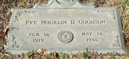 GOODSON (VETERAN), MACKLIN D - Saline County, Arkansas | MACKLIN D GOODSON (VETERAN) - Arkansas Gravestone Photos