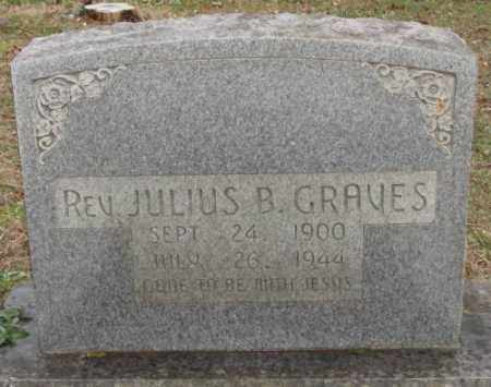GRAVES, JULIUS B. REV. - Saline County, Arkansas | JULIUS B. REV. GRAVES - Arkansas Gravestone Photos