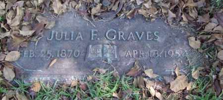 GRAVES, JULIA F. - Saline County, Arkansas | JULIA F. GRAVES - Arkansas Gravestone Photos