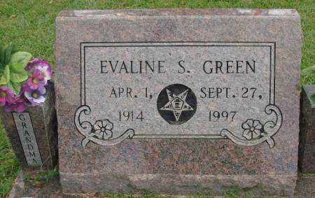 GREEN, EVALINE S. - Saline County, Arkansas | EVALINE S. GREEN - Arkansas Gravestone Photos