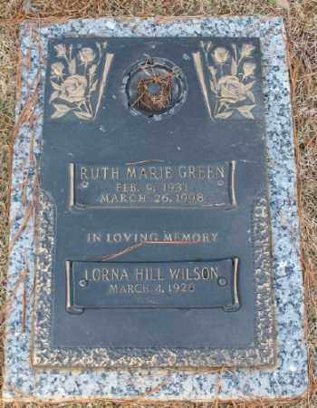 GREEN, RUTH MARIE - Saline County, Arkansas | RUTH MARIE GREEN - Arkansas Gravestone Photos