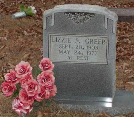 GREER, LIZZIE S. - Saline County, Arkansas | LIZZIE S. GREER - Arkansas Gravestone Photos