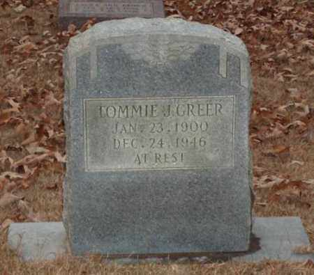 GREER, TOMMIE J - Saline County, Arkansas | TOMMIE J GREER - Arkansas Gravestone Photos