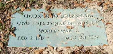 GRESHAM (VETERAN WWII), GEORGE D - Saline County, Arkansas | GEORGE D GRESHAM (VETERAN WWII) - Arkansas Gravestone Photos