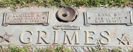 GRIMES, EARL B. - Saline County, Arkansas | EARL B. GRIMES - Arkansas Gravestone Photos