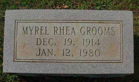 GROOMS, MYREL RHEA - Saline County, Arkansas | MYREL RHEA GROOMS - Arkansas Gravestone Photos
