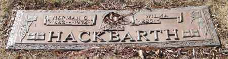 HACKBARTH, HERMAN C. - Saline County, Arkansas | HERMAN C. HACKBARTH - Arkansas Gravestone Photos
