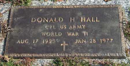 HALL (VETERAN WWII), DONALD H. - Saline County, Arkansas | DONALD H. HALL (VETERAN WWII) - Arkansas Gravestone Photos