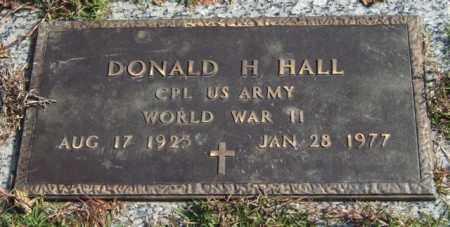 HALL (VETERAN WWII), DONALD H. - Saline County, Arkansas | DONALD H. HALL (VETERAN WWII) - Arkansas Gravestone Photos