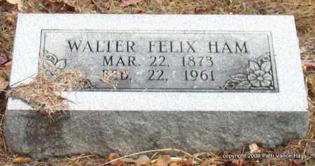 HAM, WALTER FELIX - Saline County, Arkansas | WALTER FELIX HAM - Arkansas Gravestone Photos