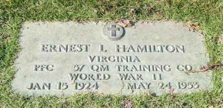 HAMILTON (VETERAN WWII), ERNEST L - Saline County, Arkansas | ERNEST L HAMILTON (VETERAN WWII) - Arkansas Gravestone Photos