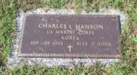 HANSON (VETERAN KOR), CHARLES L - Saline County, Arkansas | CHARLES L HANSON (VETERAN KOR) - Arkansas Gravestone Photos