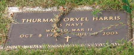 HARRIS (VETERAN WWII), THURMAN ORVEL - Saline County, Arkansas | THURMAN ORVEL HARRIS (VETERAN WWII) - Arkansas Gravestone Photos