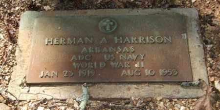 HARRISON (VETERAN WWII), HERMAN A - Saline County, Arkansas | HERMAN A HARRISON (VETERAN WWII) - Arkansas Gravestone Photos