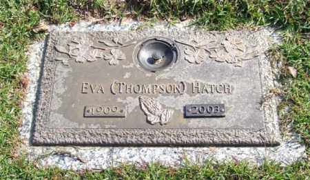 THOMPSON HATCH, EVA - Saline County, Arkansas | EVA THOMPSON HATCH - Arkansas Gravestone Photos