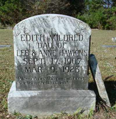 HAWKINS, EDITH MILDRED - Saline County, Arkansas | EDITH MILDRED HAWKINS - Arkansas Gravestone Photos