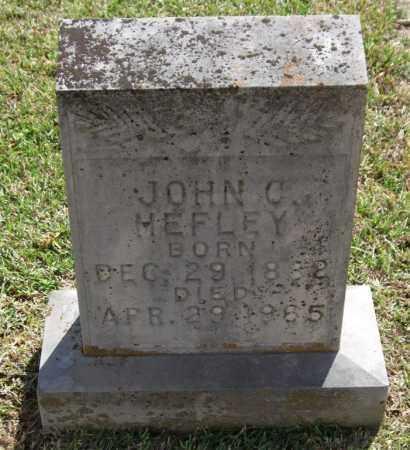 HEFLEY, JOHN C - Saline County, Arkansas | JOHN C HEFLEY - Arkansas Gravestone Photos