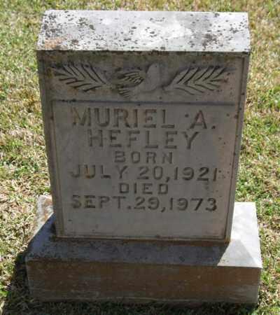 HEFLEY, MURIEL A - Saline County, Arkansas | MURIEL A HEFLEY - Arkansas Gravestone Photos