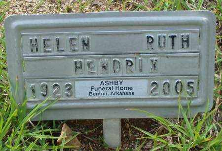 HENDRIX, HELEN RUTH - Saline County, Arkansas | HELEN RUTH HENDRIX - Arkansas Gravestone Photos