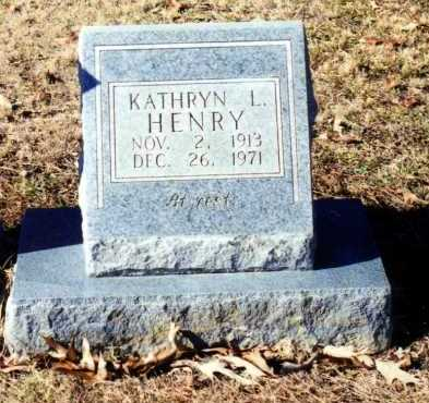 HENRY, KATHRYN L. - Saline County, Arkansas | KATHRYN L. HENRY - Arkansas Gravestone Photos