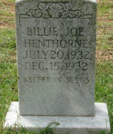 HENTHORNE, BILLIE JOE - Saline County, Arkansas | BILLIE JOE HENTHORNE - Arkansas Gravestone Photos