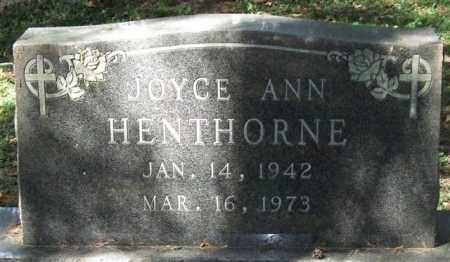 HENTHORNE, JOYCE ANN - Saline County, Arkansas | JOYCE ANN HENTHORNE - Arkansas Gravestone Photos