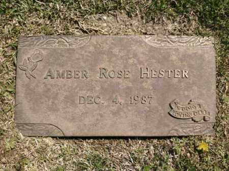 HESTER, AMBER ROSE - Saline County, Arkansas | AMBER ROSE HESTER - Arkansas Gravestone Photos