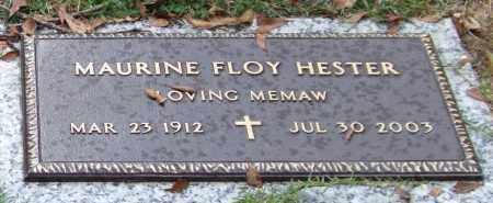 HESTER, MAURINE FLOY - Saline County, Arkansas | MAURINE FLOY HESTER - Arkansas Gravestone Photos
