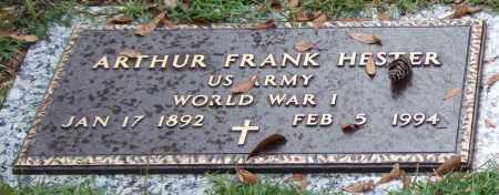 HESTER (VETERAN WWI), ARTHUR FRANK - Saline County, Arkansas | ARTHUR FRANK HESTER (VETERAN WWI) - Arkansas Gravestone Photos