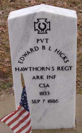 HICKS (VETERAN CSA), EDWARD B L - Saline County, Arkansas | EDWARD B L HICKS (VETERAN CSA) - Arkansas Gravestone Photos