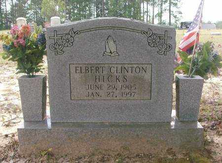 HICKS, ELBERT CLINTON - Saline County, Arkansas | ELBERT CLINTON HICKS - Arkansas Gravestone Photos