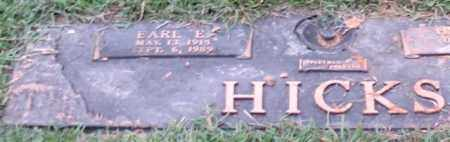 HICKS, EARL E. - Saline County, Arkansas | EARL E. HICKS - Arkansas Gravestone Photos