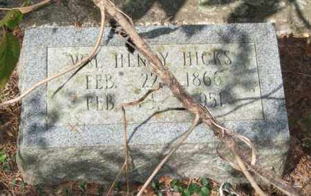 HICKS, WILLIAM HENRY - Saline County, Arkansas   WILLIAM HENRY HICKS - Arkansas Gravestone Photos