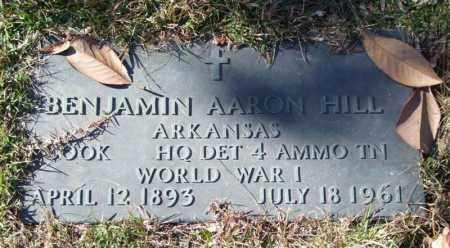 HILL (VETERAN WWI), BENJAMIN AARON - Saline County, Arkansas | BENJAMIN AARON HILL (VETERAN WWI) - Arkansas Gravestone Photos