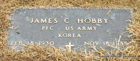 HOBBY (VETERAN KOR), JAMES C - Saline County, Arkansas | JAMES C HOBBY (VETERAN KOR) - Arkansas Gravestone Photos