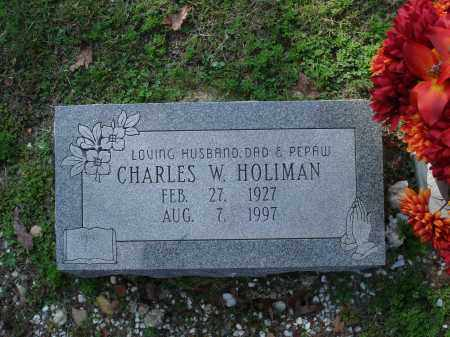 HOLIMAN, CHARLES W. - Saline County, Arkansas | CHARLES W. HOLIMAN - Arkansas Gravestone Photos
