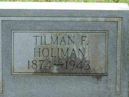HOLIMAN, TILMAN - Saline County, Arkansas | TILMAN HOLIMAN - Arkansas Gravestone Photos