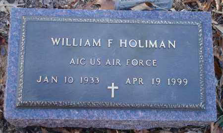 HOLIMAN (VETERAN), WILLIAM F - Saline County, Arkansas | WILLIAM F HOLIMAN (VETERAN) - Arkansas Gravestone Photos