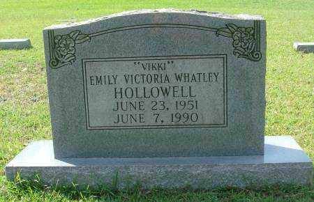 WHATLEY HOLLOWELL, EMILY VICTORIA - Saline County, Arkansas | EMILY VICTORIA WHATLEY HOLLOWELL - Arkansas Gravestone Photos