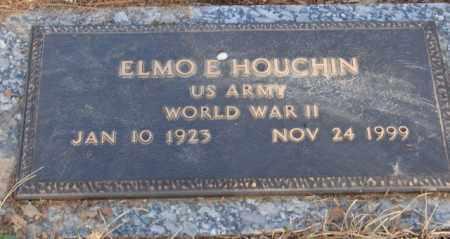 HOUCHIN (VETERAN WWII), ELMO E - Saline County, Arkansas | ELMO E HOUCHIN (VETERAN WWII) - Arkansas Gravestone Photos