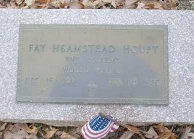 HOUPT (VETERAN WWII), FAY HEAMSTEAD - Saline County, Arkansas | FAY HEAMSTEAD HOUPT (VETERAN WWII) - Arkansas Gravestone Photos